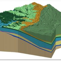 3D Hydro-Stratigraphic Model